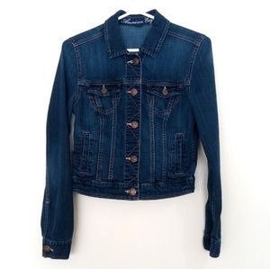 American Eagle Outfitters Cropped Denim Jacket